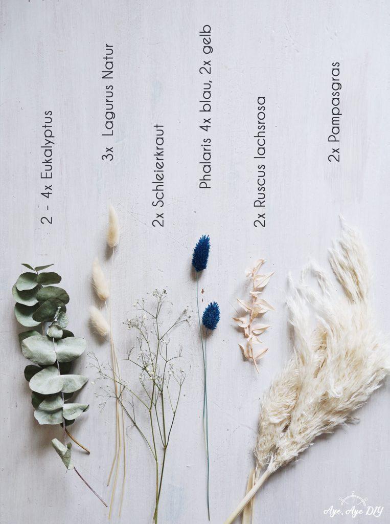 Welche Trockenblumen brauchst du für den Traumfänger zum Selbermachen?