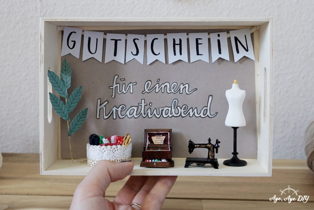 Diy Geschenk Beste Freundin Gutschein Verpacken Mit Miniaturfiguren Aye Aye Diy