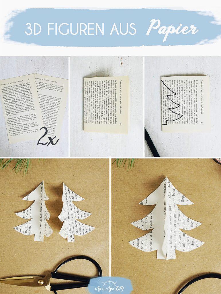 3D Figuren aus Papier basteln Anleitung
