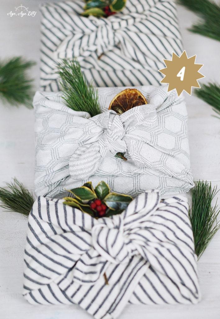 Geschenke im Tuch nachhaltig verpacken mit der Furoshiki Technik