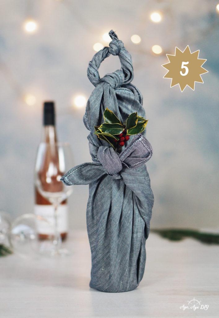 Furoshiki Anleitung Flasche: Weinflaschen kreativ im Tuch verpacken
