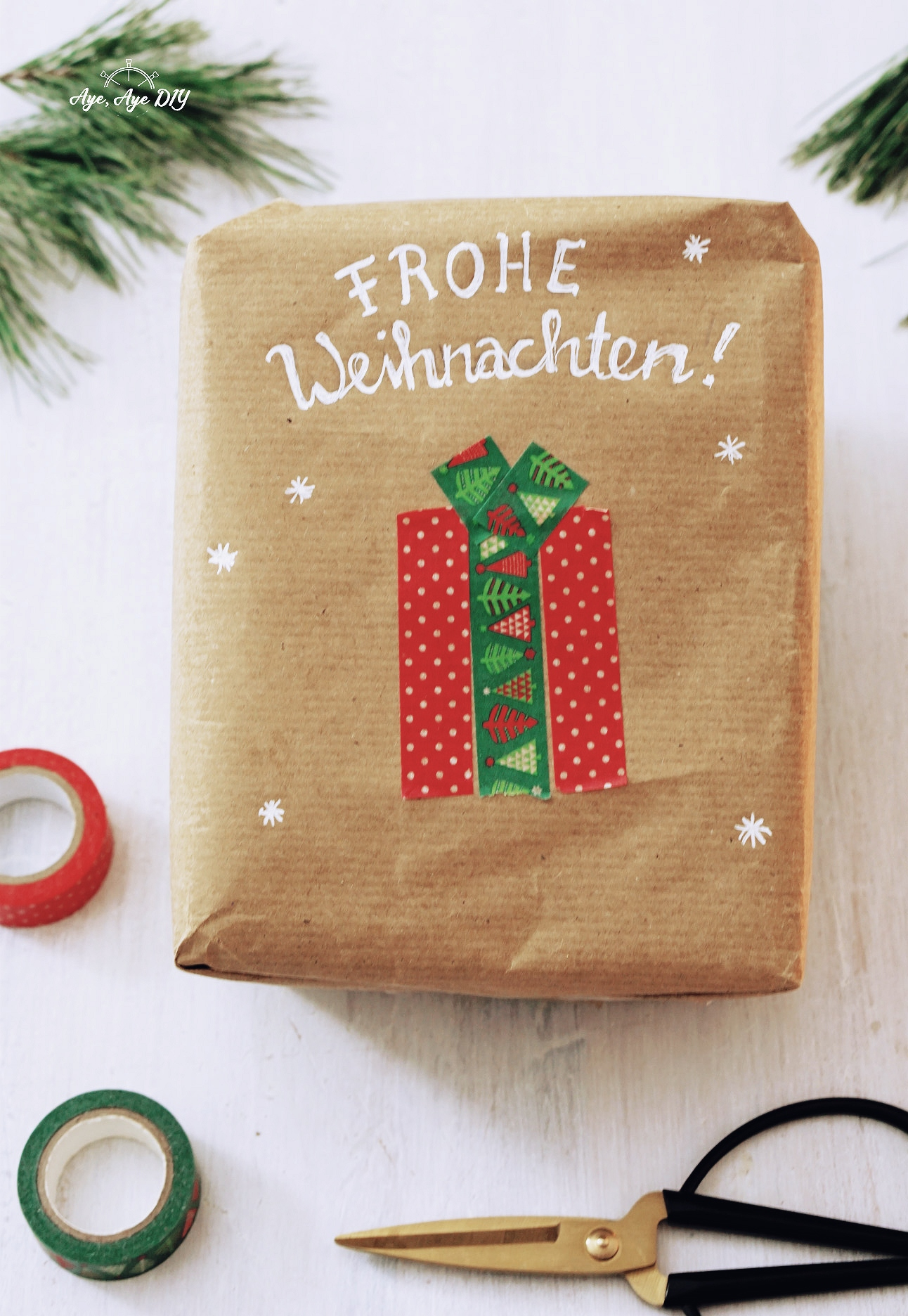 Washitape Geschenkbox
