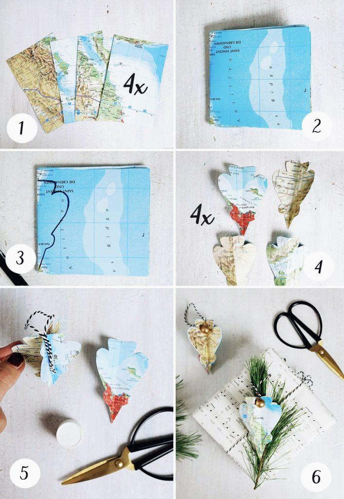 Weltkartenanhänger Baumschmuck 3D