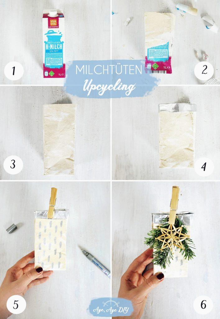 Milchtüten Geschenkverpackung Upcycling Anleitung Geschenktüte