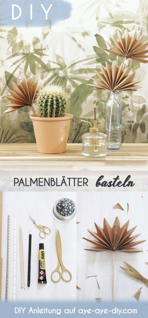 Pinterest Pin: Palmenblätter basteln auf Pinterest merken