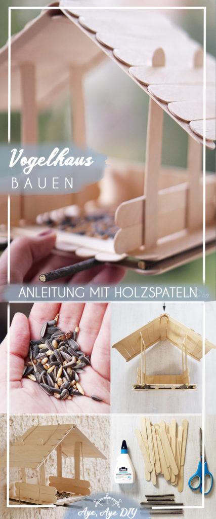 Pinterest Pin: Merke dir die Idee ein Vogelhaus selber zu bauen auf Pinterest!