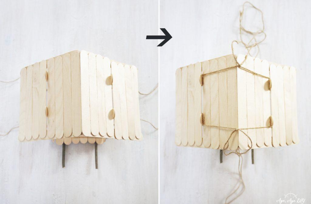 Vogelhaus bauen zum Aufhängen: Schnur anbringen