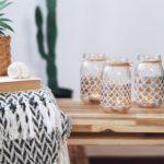 Basteln mit Gläsern DIY Windlicht Glas