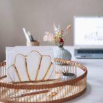 Vintage Briefablage gold in Muschel Form Schreibtisch Organizer selber machen