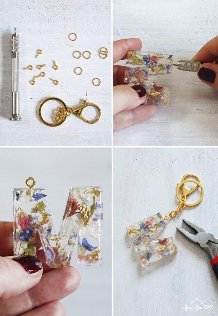 DIY Resin Art Schlüsselanhänger selber machen Loch bohren
