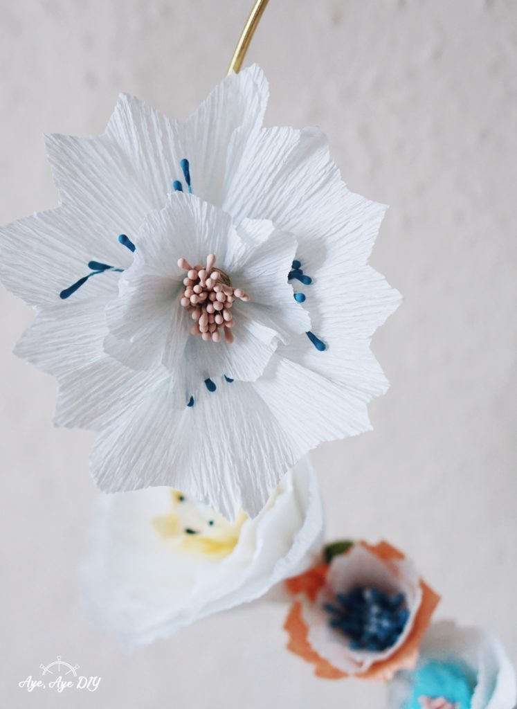 Papierblumen selber basteln