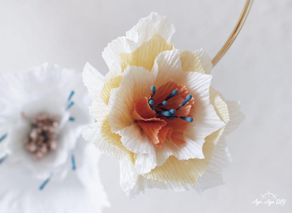 Blumen basteln aus Papier Vorlage