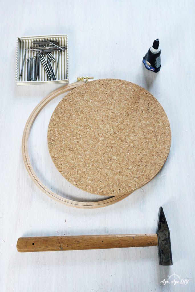 Materialien DIY Garnrollenhalter