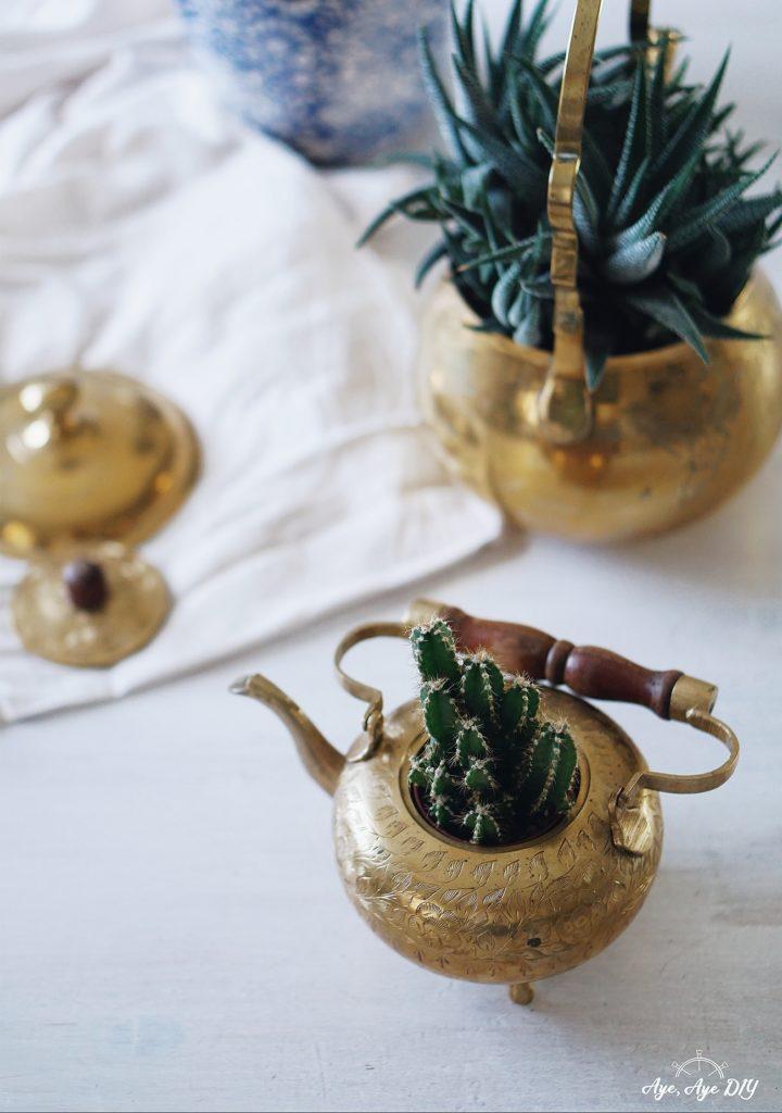 Geschenk zum Geburtstag beste Freundin: DIY Geschenkidee Boho Pflanzen Deko