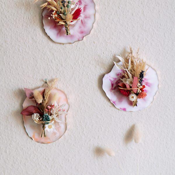 DIY Resin Coaster als Wandbild Herbst DIY Deko